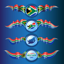 South African Flag Ribbons