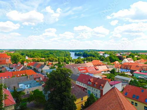 Fototapeta Über den dächern einer historischen Altstadt  obraz na płótnie