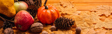 Autumnal Decoration And Food S...