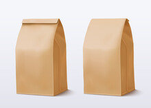 Paper Bag On White Background....