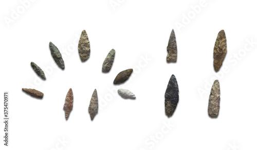 Fotografia Arrowheads of primitive hunters