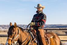 Portrait Confident Male Ranche...