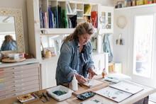 Female Artist Assembling Mosai...