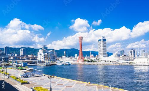 Fototapeta 神戸ポートタワーとベイエリア