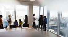 Business People Talking In Hig...
