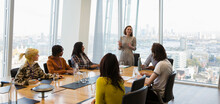 Businesswoman Leading Conferen...