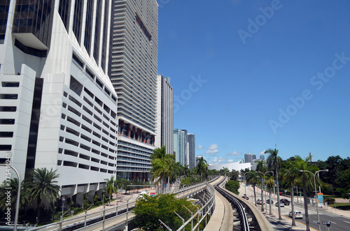 Fototapeta Biscayne Boulevard downtown Miami,Florida scenic view