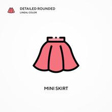 Mini Skirt Vector Icon. Modern...