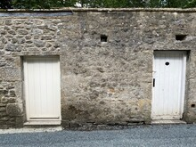 Two, Old Stone Flat Roofed, Ou...