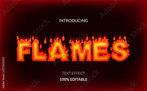 Fotografia fire flames editable text effect