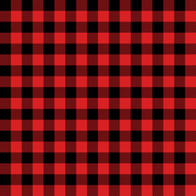 Tartan Firebrick Red Plaid. Scottish Pattern In Black And Orange Cage. Scottish Cage. Traditional Scottish Checkered Background. Seamless Fabric Texture. Vector Illustration