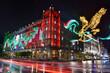 canvas print picture - Iluminación edificios zócalo