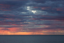 Skyscape Of A Sunset And Grey ...