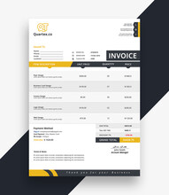 Modern Business Invoice Bill T...