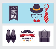 Happy Father Day Banner Set Wi...