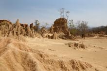 Landscape Of Beautiful Natural , Sao Din Na Noi In Sri Nan National Park, Nan Province, Thailand