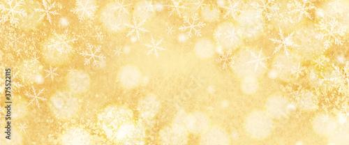 Canvastavla キラキラした雪の結晶の水彩背景