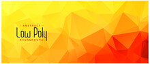 Yellow Orange Color Low Poly A...