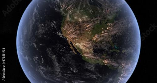 Valokuva Fires Burning in North America