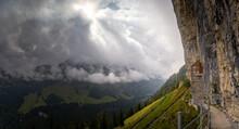 Panorama Of A Mountain Landsca...