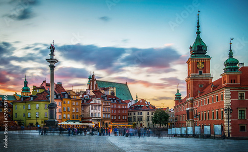 Papel de parede Evening view of the historic center of Warsaw