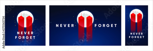 9/11 Patriot Day banner Fototapet