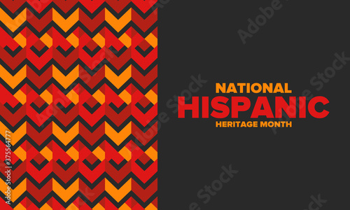 Fotomural National Hispanic Heritage Month in September and October