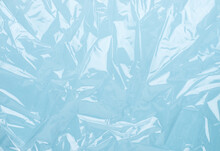 Blue Plastic Wrinkled Wrap
