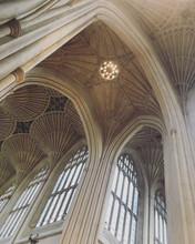The Interior Of Bath Abbey In The Centre Of Bath, Somerset
