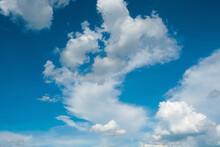 White Clounds With Blue Sky Ba...