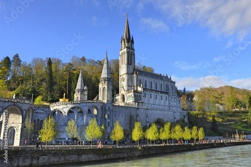 Fototapeta Sanktuarium w Lourdes Francja, Maryjne centrum Pielgrzymkowe