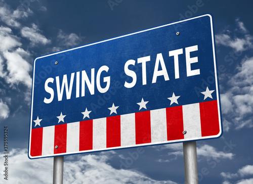 Slika na platnu Swing State - presidential race in America
