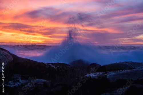 Photographie wave sunset beach
