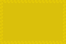 Yellow Pattern Border Design On Yellow Background .Abstract Wallpaper. Yellow Wallpaper.
