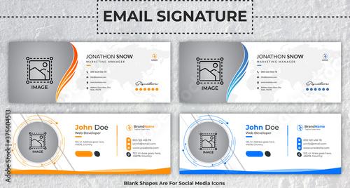 Fotografia, Obraz Corporate, Modern & Professional Email Signature
