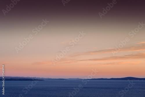 Adria during beautiful sunset in Croatia Canvas Print