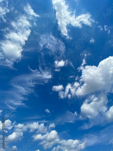Photo blue sky with clouds