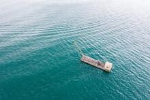 Fishing Boat Over Lake In Aeri...