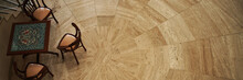 Stone Brown Floor And Wooden T...