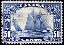 Canadian Stamp Issued In 1929 To Commemorate The Racing Schooner Bluenose