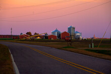 Rural Farm Sunset