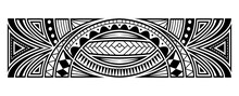 Abstract Tribal Art Tattoo Border