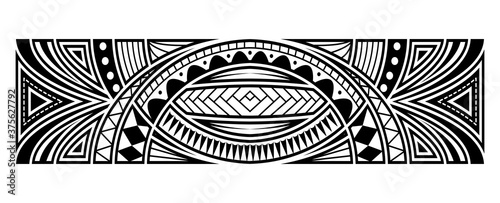 Photo Abstract tribal art tattoo border
