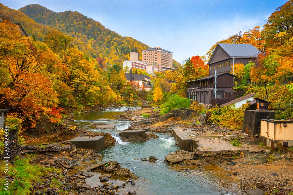 Fototapeta Jozankei, Japan Town View