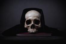 Still Life Of Human Skull That...
