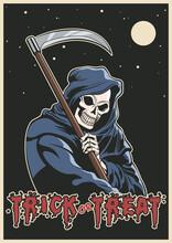 Grim Reaper Illustration, Hall...