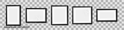 Realistic picture frame mockup. Vector background Fotobehang