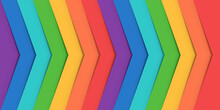 Abstract Rainbow Of Colored Lines