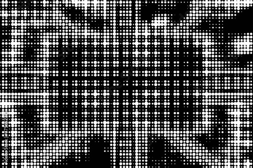 An abstract black and white halftone background image. Wallpaper Mural