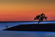 Sunset On Lake Hefner In Oklahoma City